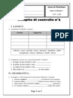 Compito di controllo n° 2 (17-18) s