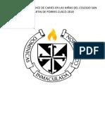 Evaluacion Del Indice de Caries en Las Niñas Del Colegio San Martin de Porres Cusco 2018