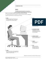 Office Ergonomics and Exercises Flyer