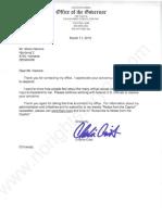 Charlie Crist Florida governor Letter
