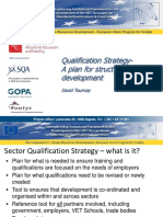 Qualification Strategy Development