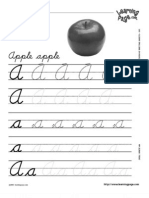 Learning Pages - Cursive Writing