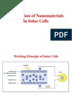 Application in Solar Cells