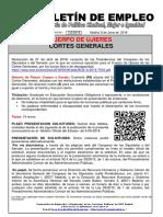 133 -18 Boletin Informativo Empleo Publico Cuerpo de Ujieres Cortes Generales 6-06-2018