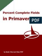 Percent Complete Fields in Primavera P6