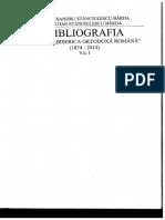 Bibliografia Revistei Biserica Ortodoxă Română Vol I (1874-2014)