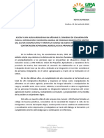 Nota Prensa Convenio UPA ACCEM