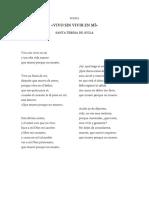 Vivo Sin Vivir en Mí - Santa Teresa de Ávila (poesía)
