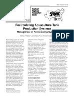SRAC Publication No. 452 Recirculating Aquaculture Tank Production Systems Management of Recirculating Systems
