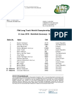 FIM Long Track World Championship Challenge - Bielefield GER 24.06.2018 - Starting List
