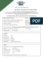 FIM Team Speedway U21 World Championship Semi Final 2 - Glasgow UK - 14.07.2018 - Supplementary Regulations