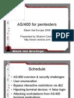AS400 Presentation | Ibm System I | Ibm Db2