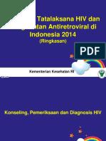 Ringkasan Pedoman Tatalaksana HIV Dan Pengobatan ARV-Dewasa