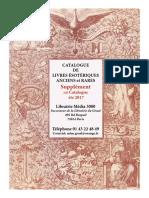 Supplement Couleur Catalogue Livres Anciens Ete 2017