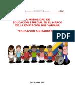 Reforma Educación Especial