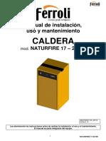Manual Instrucciones NATURFIRE HR 25 Español (1)