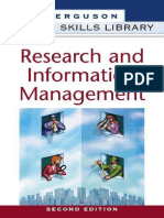 Career Skills Library - Research and Information Management, 2nd Ed. [Facts On File] 1998-04.pdf