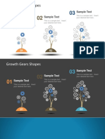 Growth Gears Shapes for Powerpoint