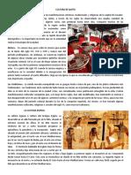 Cultura de Quito y La Cultura Egipcia