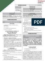 Ley que modifica el artículo 17 de la Ley 27866 Ley del Trabajo Portuario