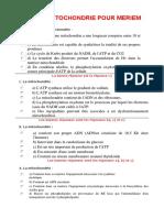 Qcm La Mitochondrie Pour Meriem1