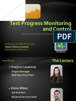 Test Progress Monitoring and Control