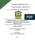 Articulo Científico  sobre la Demanda Laboral de la Escuela Profesional de Economía