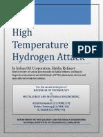 High Temperature Hydrogen Attack