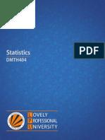 Dmth404 Statistics