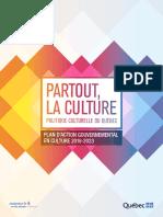 Plan d'action culture 2018-2023