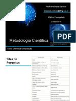 Aula 02 Metodologia Científica 21-03-2018
