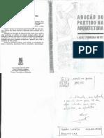 Livro - A Adoção Do Partido Na Arquitetura - UFBA 1989
