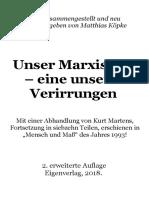 Köpke, Matthias - Unser Marxismus, eine unserer Verirrungen,
