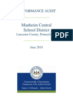 Performance audit of Manheim Central School District June 2018