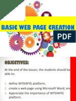 Basic Web Site Creation