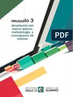 LecturaM3 Ampliacion Del Marco Teorico, Metodologia y Cronograma de Avance