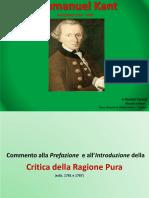 Immanuel Kant.  Critica della Ragione Pura