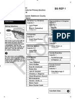 Baltimore County Primary Ballots 2018