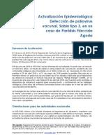 2018 Junio 8 Phe Actualización Epidemiologica Parálisis Fláccida Aguda