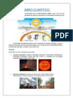 CAMBIO CLIMÁTICO Preservacion Sarango