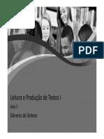 Leitura e Produção de Texto 3