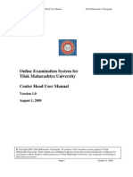 TMU Online Exam - Center Head & Supervisor User Manual