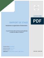 Page de Garde de Rapport de Stage Exemple 3