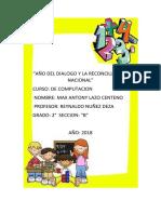 Año Del Dialogo y La Reconciliacioin Nacional