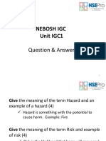 IGC 1 - Past Questions With Answers