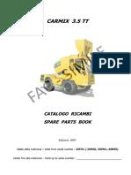Parts Book Carmix 3.5TT-2007
