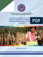 Protocolo Nacional Para La Gestión Integral Del Riesgo de Desastres Por Canícula Extendida en La República de Guatemala 2,015 CONRED
