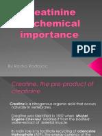 Creatinine presentation biochemistry