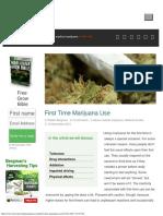 First Time Marijuana Use