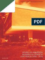 Difusão Da Arquitetura Moderna Na Cidade de João Pessoa ( ) Fúlvio Teixeira de Barros Pereira